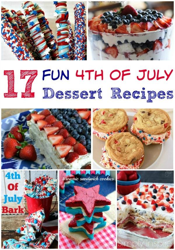 4Th Of July Dessert Recipes  4th of July Dessert Recipes