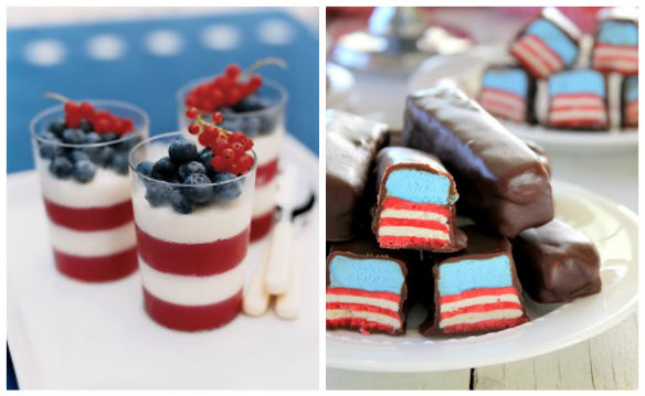 4Th Of July Dessert  Red White Blue Desserts 4th of July Ideas