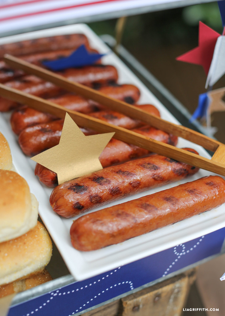 4Th Of July Hot Dogs  Hot Dog Bar for 4th of July Lia Griffith