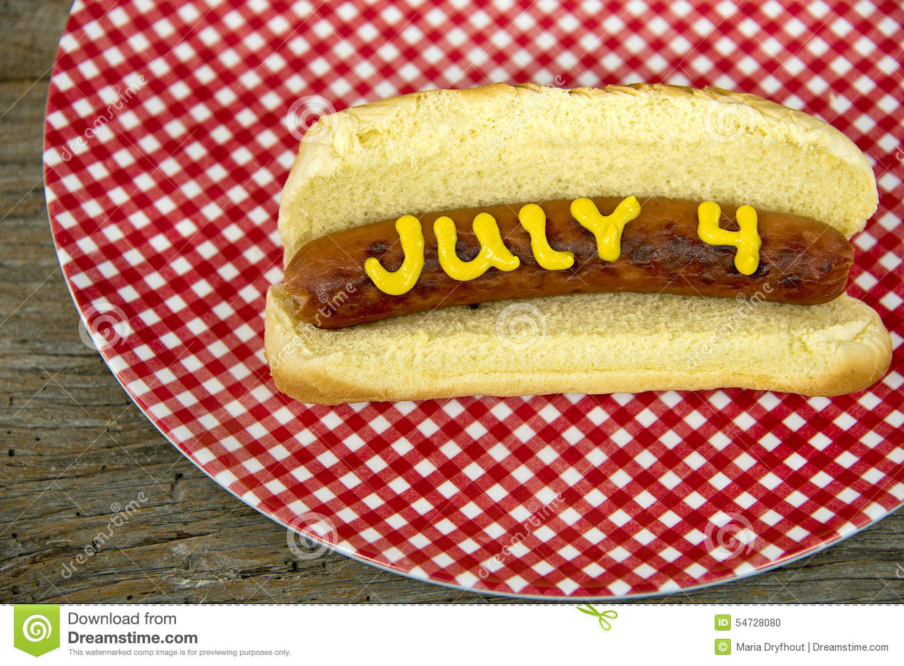 4Th Of July Hot Dogs  4th of July holiday hot dog