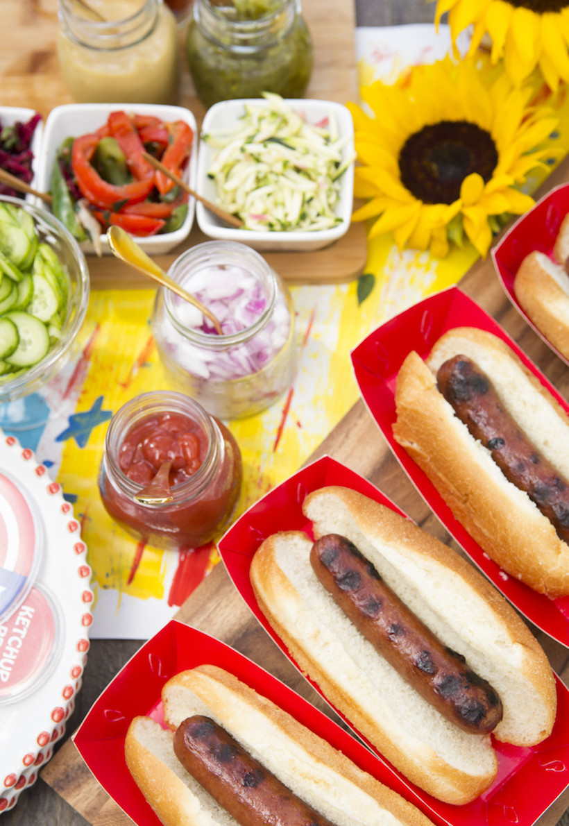 4Th Of July Hot Dogs  Hot dog The Ultimate 4th of July Spread Camille Styles