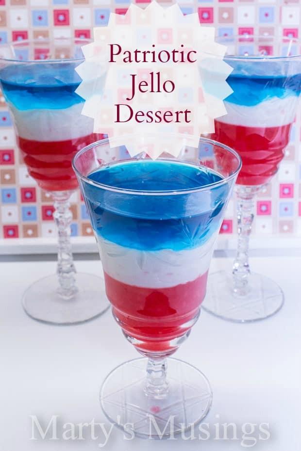 4Th Of July Jello Dessert  Red White and Blue Layered Jello Dessert