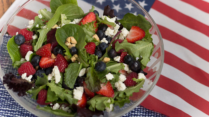 4Th Of July Salads  Red White and Blueberry Salad