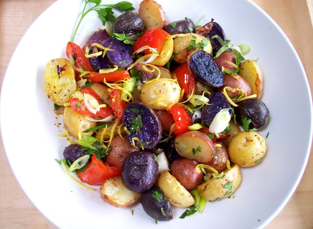 4Th Of July Salads  Red White and Blue Potato Salad Proud Italian Cook