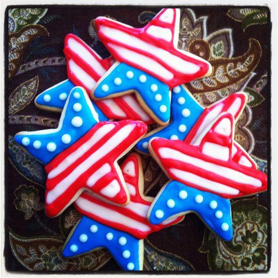 4Th Of July Sugar Cookies  Patriotic Stars Sugar Cookies