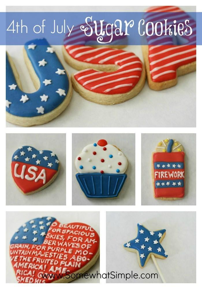 4Th Of July Sugar Cookies  4th of July Cookies Somewhat Simple