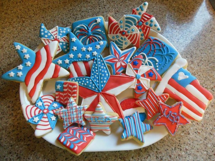 4Th Of July Sugar Cookies  1000 images about Sugar cookies with royal icing Fourth