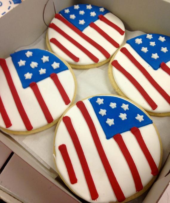 4Th Of July Sugar Cookies  4th of July sugar cookies e Dozen Fourth of July Cookies