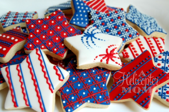 4Th Of July Sugar Cookies  4th of July Cookies Recipe A Helicopter Mom