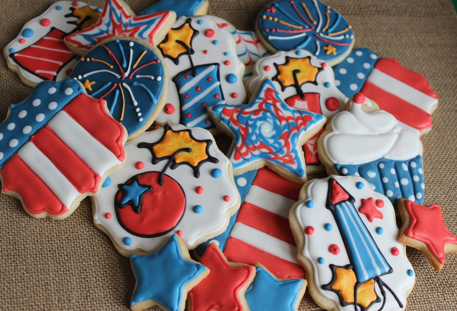 4Th Of July Sugar Cookies  Sugar Cookie Whimsy Happy 4th of July