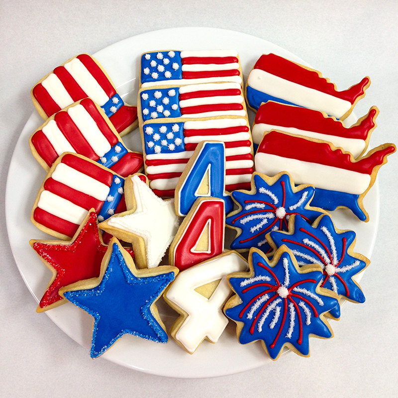 4Th Of July Sugar Cookies  FOURTH of JULY COOKIES Decorated Sugar Cookie Gift Box 18