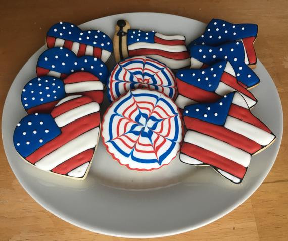 4Th Of July Sugar Cookies  Items similar to Patriotic USA Themed Sugar Cookies July