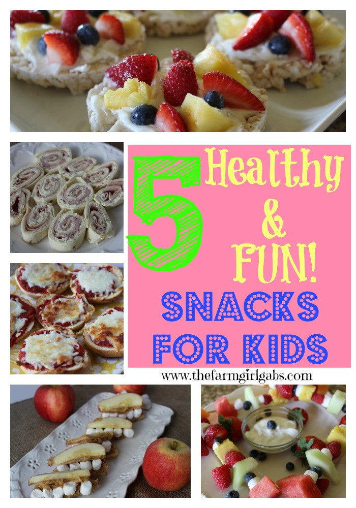 5 Healthy Snacks  Five Healthy & FUN After School Snacks for Kids
