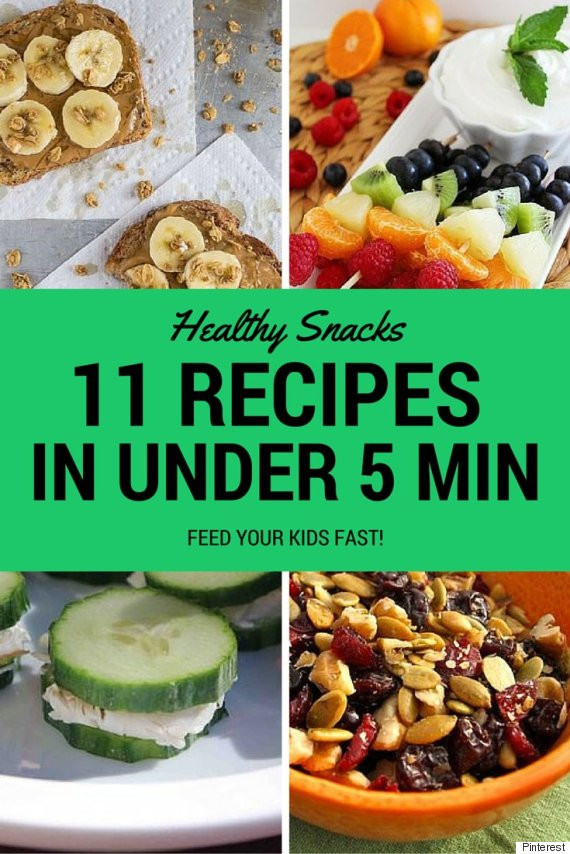 5 Healthy Snacks  Healthy Snacks For Kids You Can Make In Under 5 Minutes
