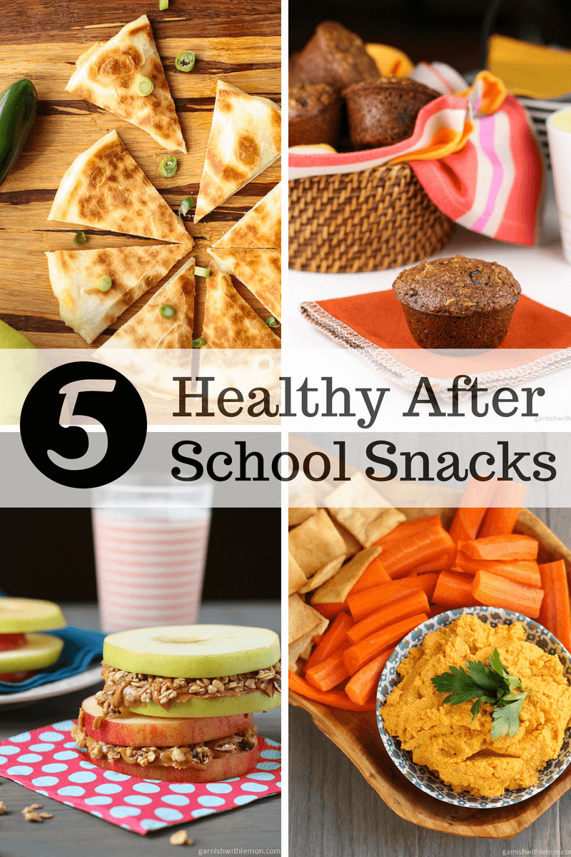 5 Healthy Snacks  5 Healthy After School Snacks Garnish with Lemon