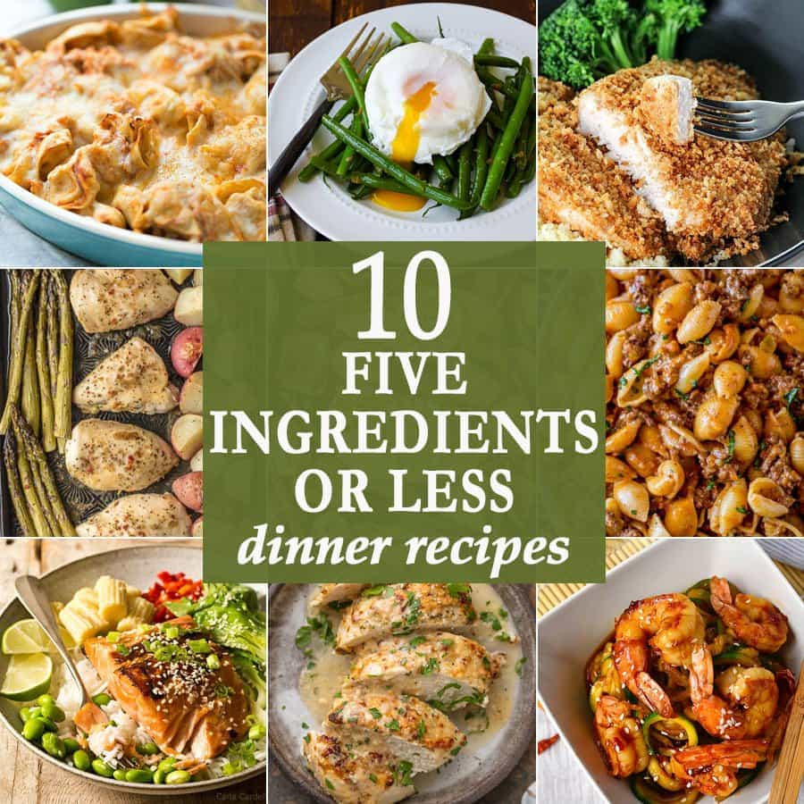 5 Ingredient Healthy Dinners  10 Five Ingre nts or Less Dinners TheDirtyGyro