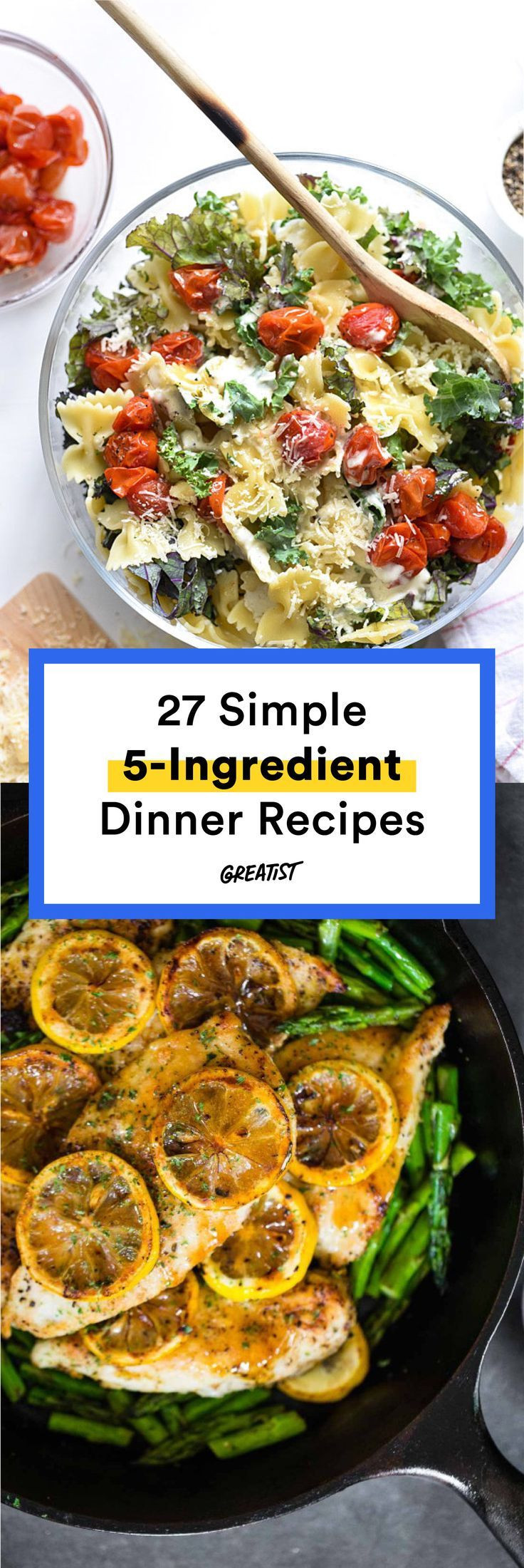 5 Ingredient Healthy Dinners  27 Five Ingre nt Dinner Recipes for Stress Free Meals