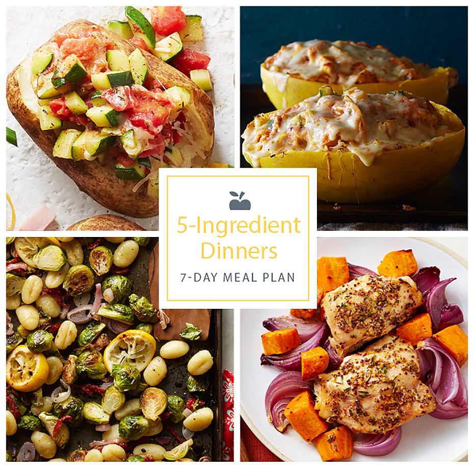 5 Ingredient Healthy Dinners  7 Day Meal Plan Easy 5 Ingre nt Dinners EatingWell