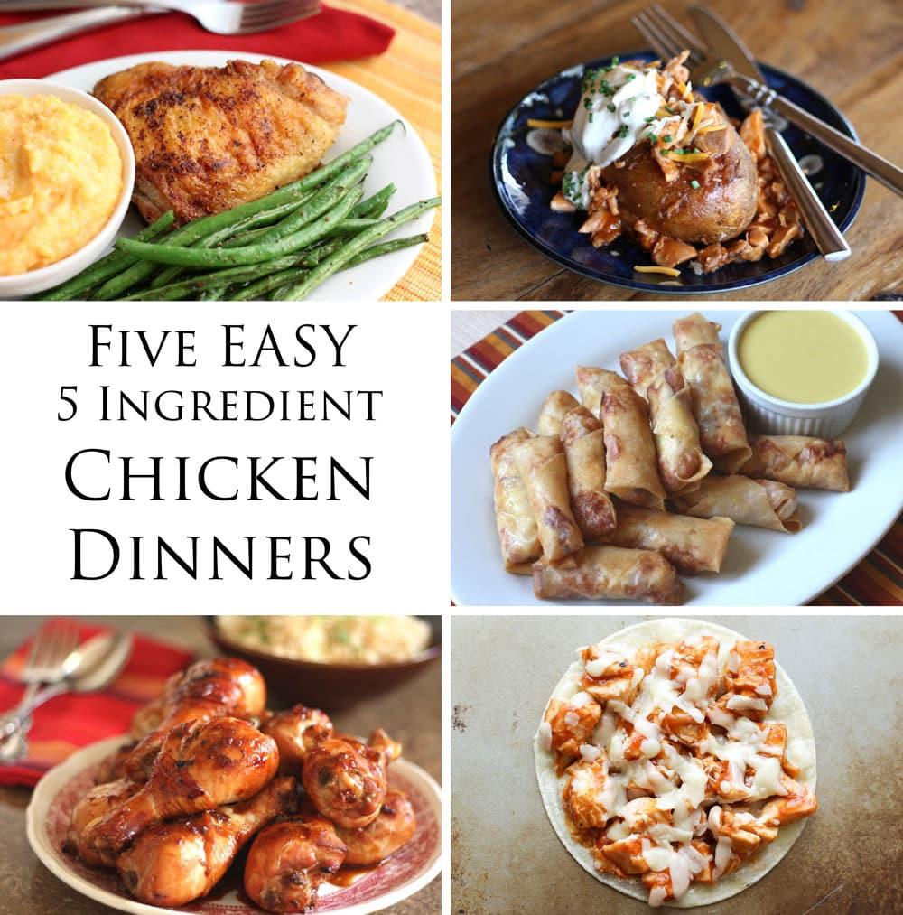 5 Ingredient Healthy Dinners  Easy Five Ingre nt Chicken Dinners