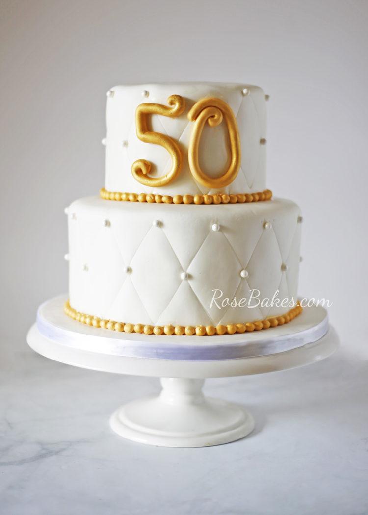 50Th Wedding Anniversary Cakes  50th Wedding Anniversary Cake Rose Bakes