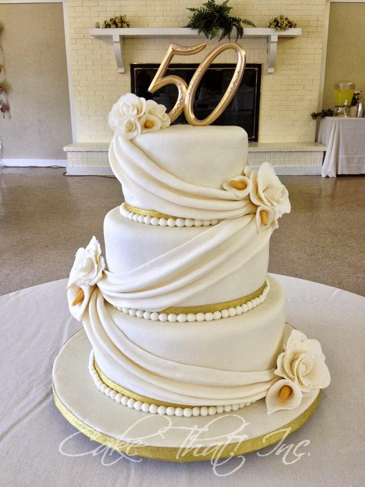 50Th Wedding Anniversary Cakes  Cake That Inc 50th Wedding Anniversary