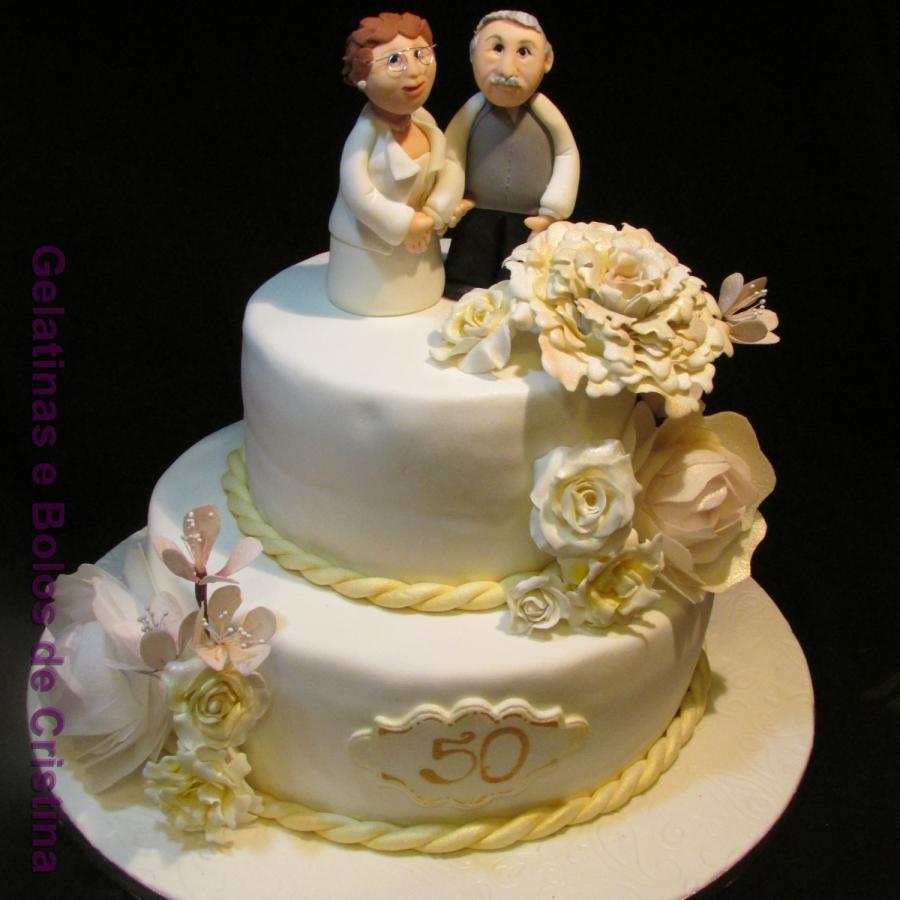 50Th Wedding Anniversary Cakes  50th Wedding Anniversary Cake cake by Cristina Arévalo