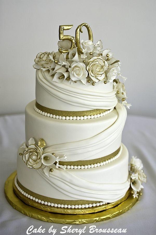 50Th Wedding Anniversary Cakes  50th Anniversary Cake — Anniversary Cakes