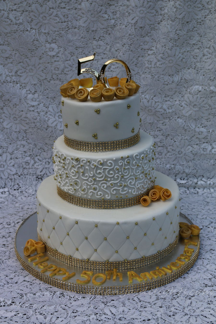 50Th Wedding Anniversary Cakes  50Th Wedding Anniversary Cake CakeCentral