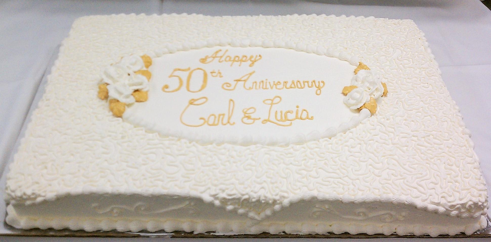 50Th Wedding Anniversary Sheet Cakes  50th Wedding Anniversary Sheet Cakes Wedding Cake Flavors