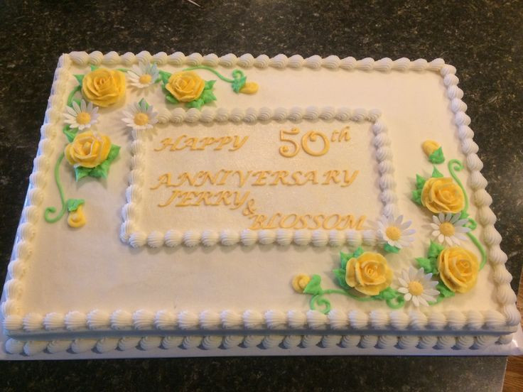 50Th Wedding Anniversary Sheet Cakes  50th Anniversary Sheet Cake Ideas and Designs