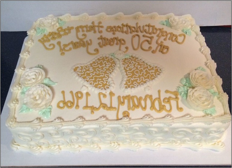 50Th Wedding Anniversary Sheet Cakes  50th Wedding Anniversary Sheet Cake Ideas