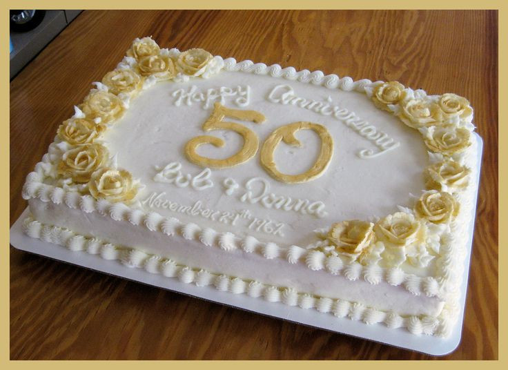 50Th Wedding Anniversary Sheet Cakes  1000 images about 50th anniversary cake on Pinterest