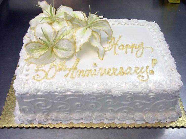 50Th Wedding Anniversary Sheet Cakes  50th anniversary sheet cake
