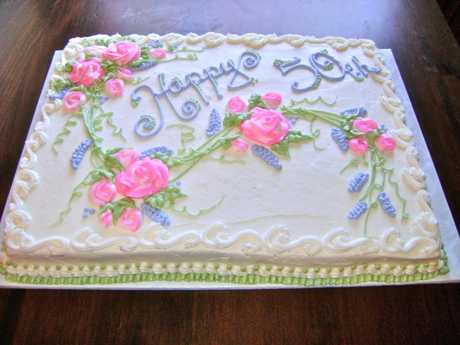50Th Wedding Anniversary Sheet Cakes  50Th Wedding Anniversary Sheet Cake CakeCentral