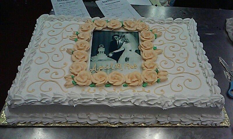 50Th Wedding Anniversary Sheet Cakes  50th Wedding Anniversary sheet cake