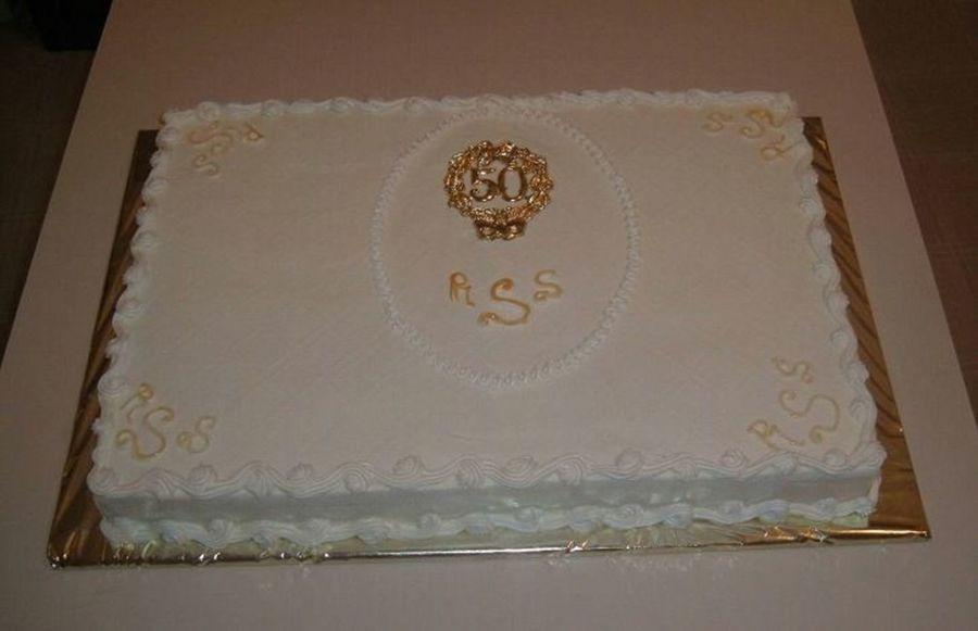 50Th Wedding Anniversary Sheet Cakes  Simple 50Th Anniversary Sheet CakeCentral