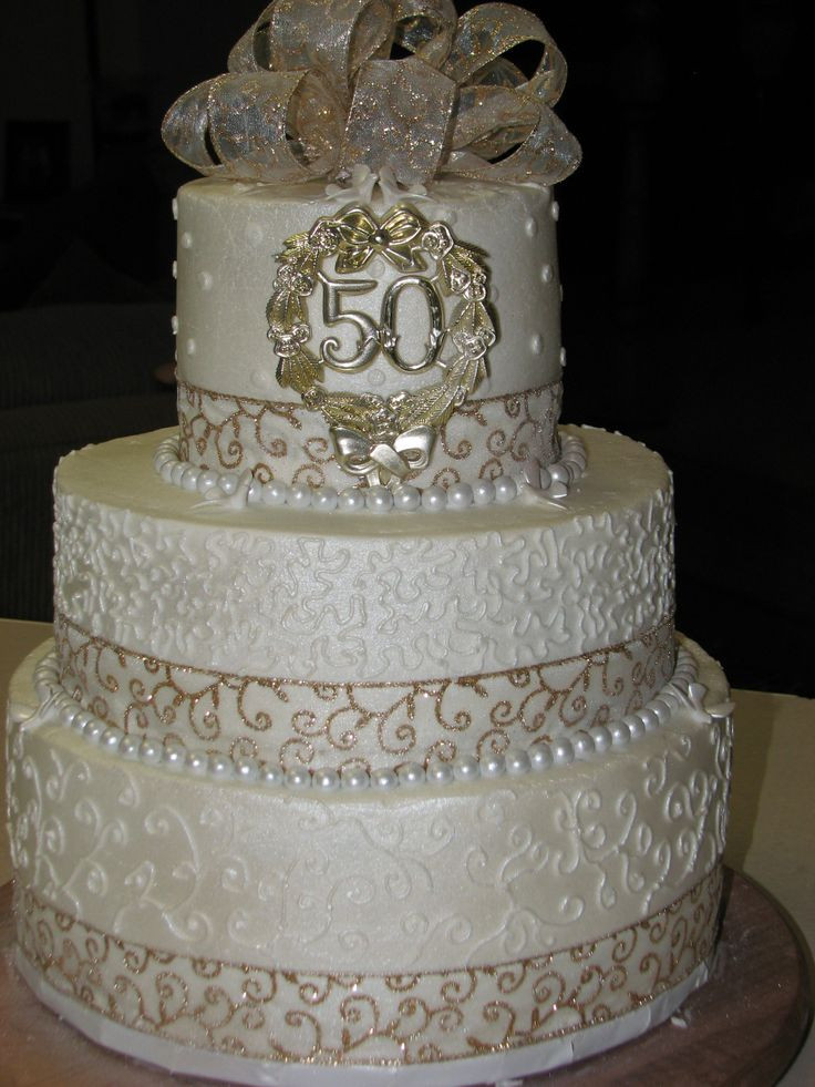 50Th Wedding Cakes  25 best ideas about Wedding anniversary cakes on