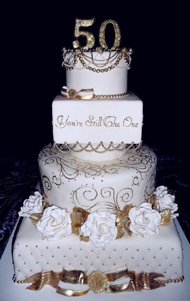 50Th Wedding Cakes  Over Age 50 Wedding Dresses