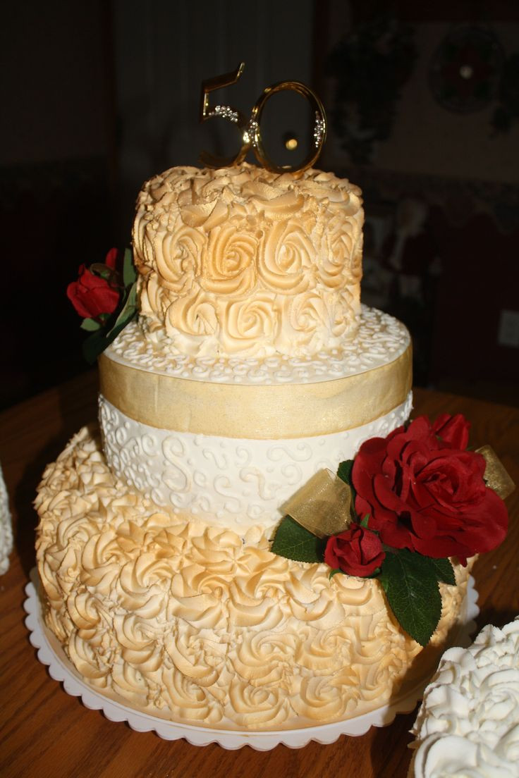 50Th Wedding Cakes  50 best images about Anniversary Ideas on Pinterest