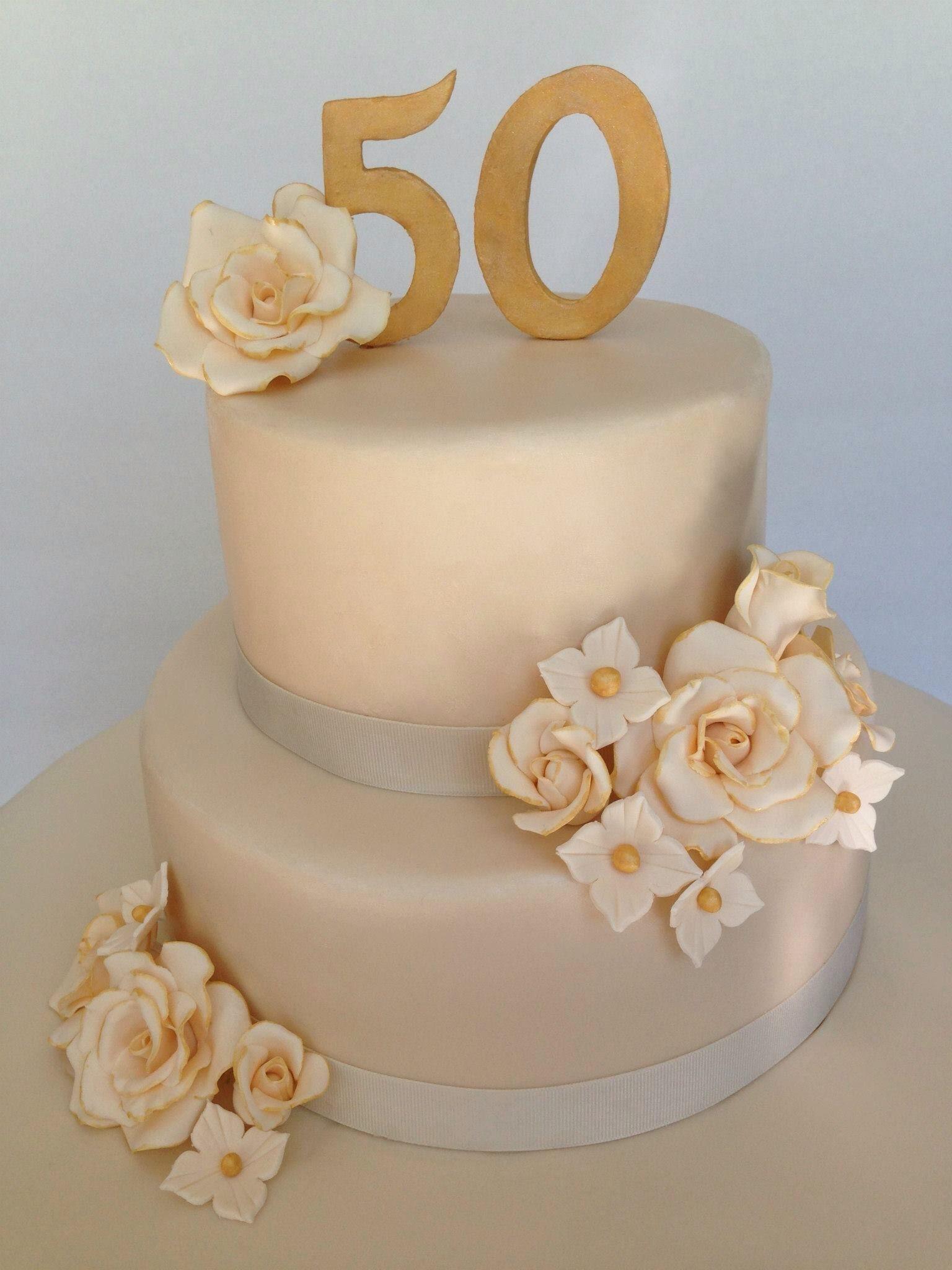 50Th Wedding Cakes  50th wedding anniversary cake simple yet elegant