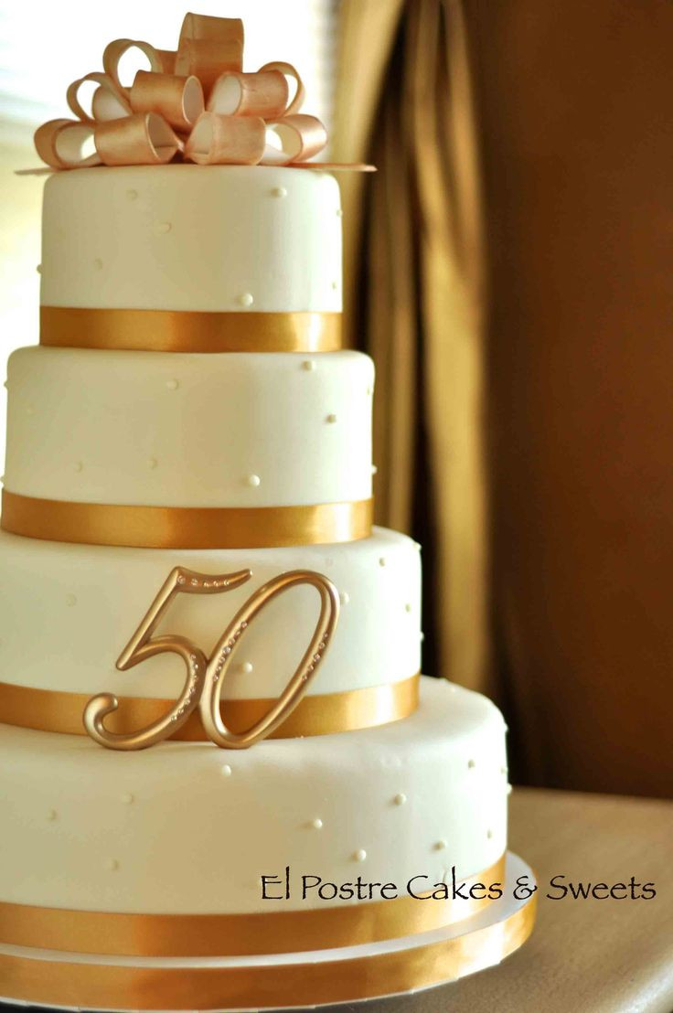 50Th Wedding Cakes  16 best images about Anniversary Cakes on Pinterest