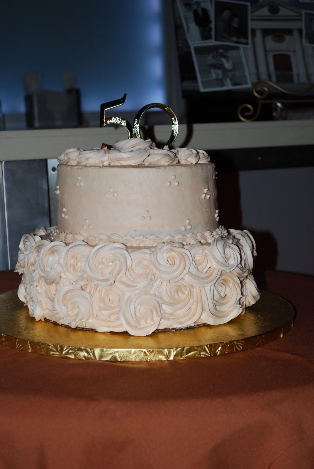 50Th Wedding Cakes  Sweet Notes 50th Wedding Anniversary Cake
