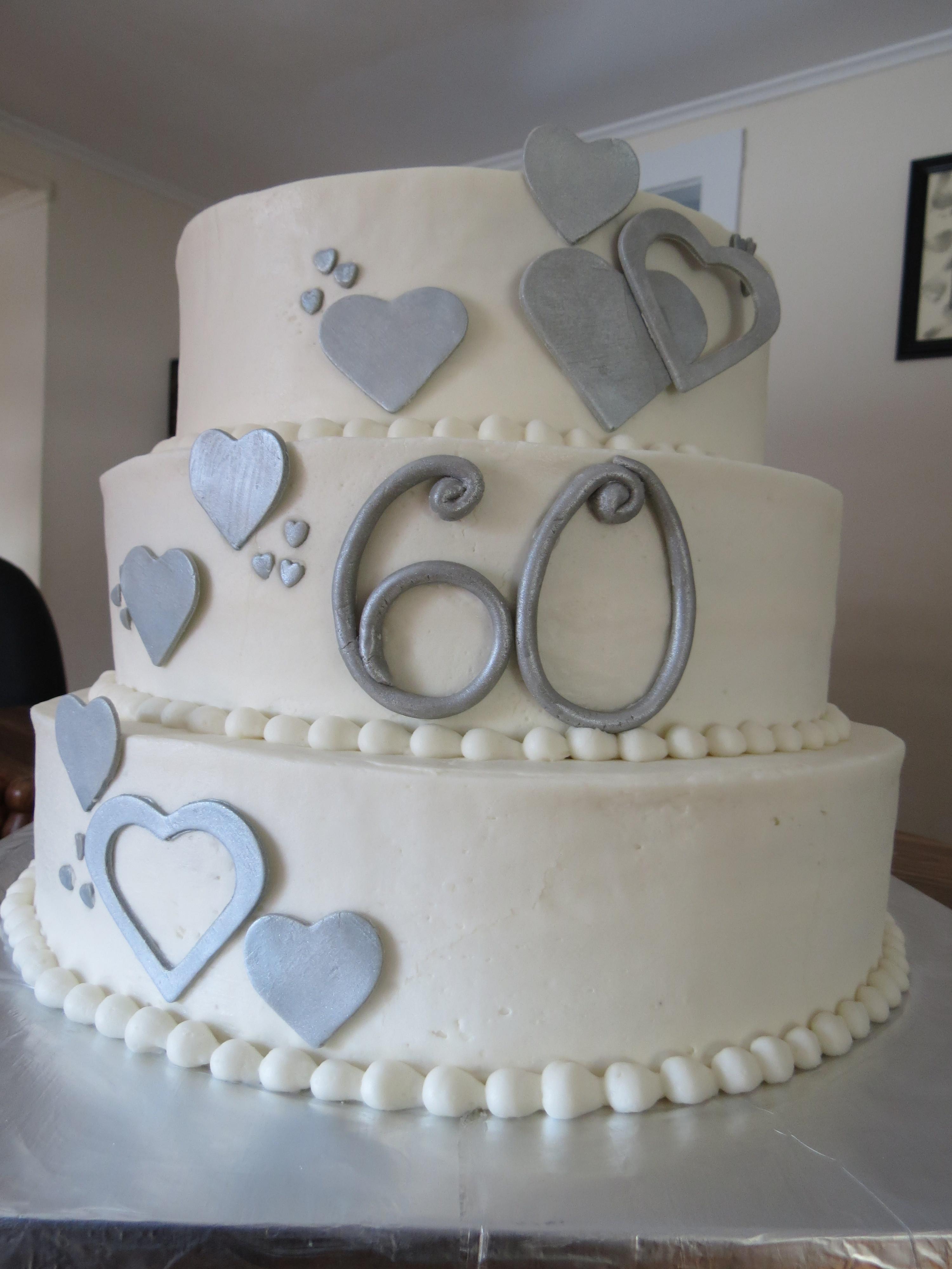 60Th Wedding Anniversary Cakes  60th Anniversary