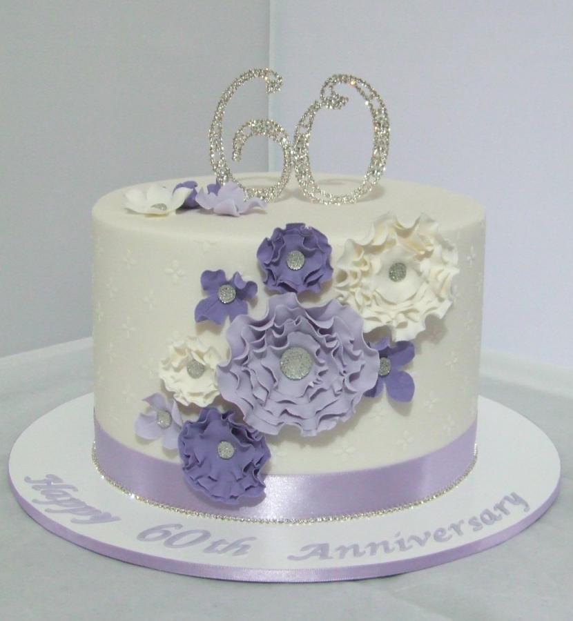 60Th Wedding Anniversary Cakes Ideas  60th Wedding Anniversary Cake cake by Cake A Chance
