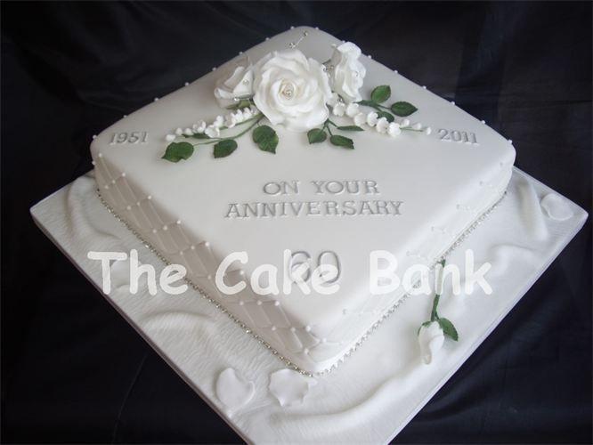 60Th Wedding Anniversary Cakes Ideas  60th wedding anniversary cake ideas Google Search