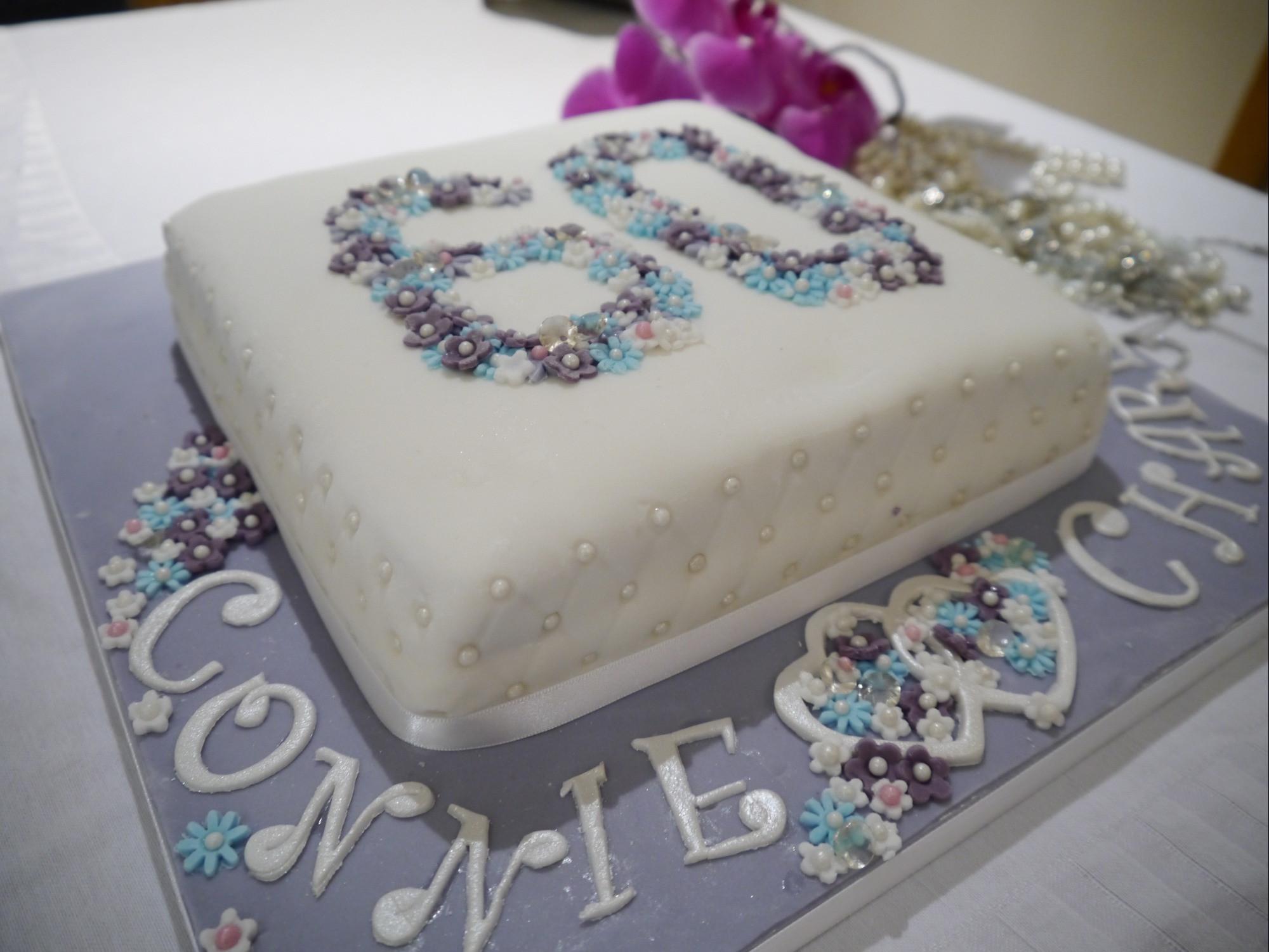 60Th Wedding Anniversary Cakes Ideas  Diamond anniversary cake