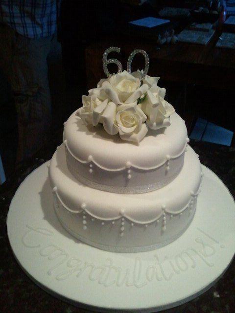 60Th Wedding Anniversary Cakes Ideas  Simple but elegant anniversary cake