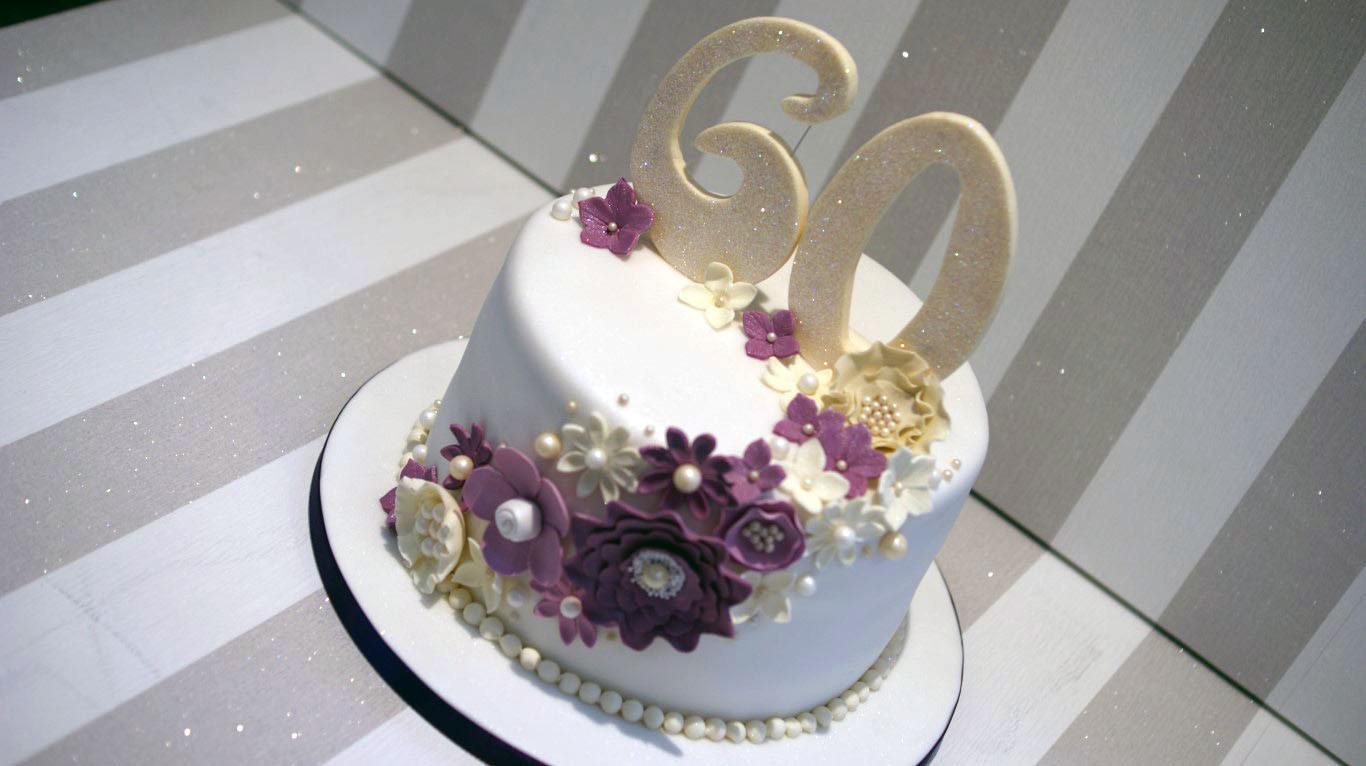 60Th Wedding Anniversary Cakes  60th Wedding Anniversary Cake Bakealous