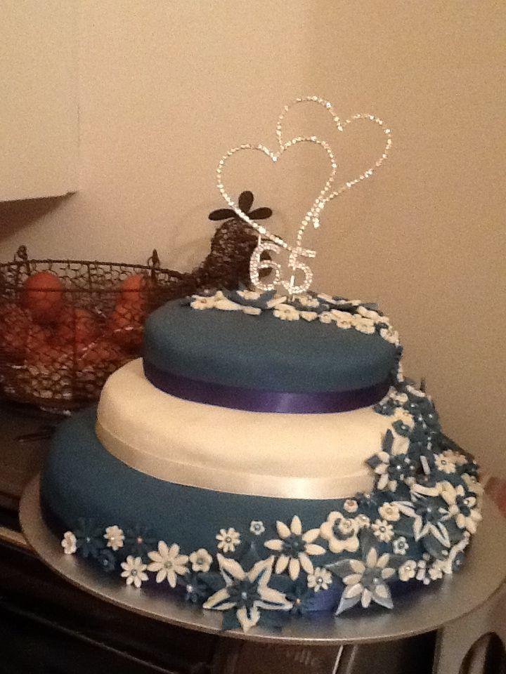 65Th Wedding Anniversary Cakes  65th wedding anniversary cake made with Sharon Budge
