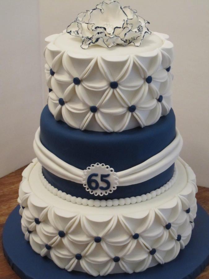 65Th Wedding Anniversary Cakes  65th Anniversary Cake cake by Sunrise Cakes CakesDecor